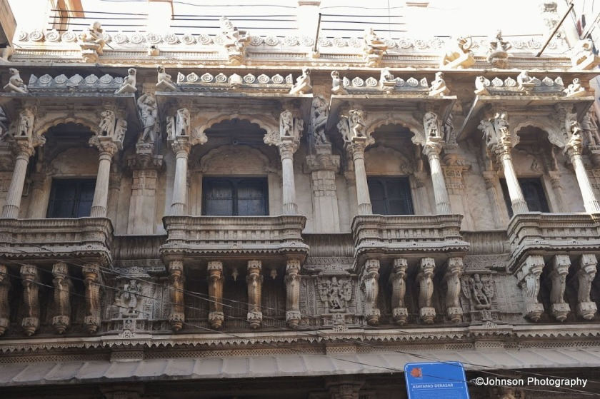 Exquisitely carved balconies